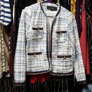 Zara tweed chanel style jacket